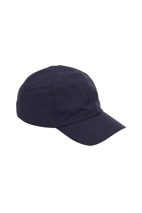 deb3cabb8a6 Wigens Navy Blue Nylon   Fleece Lined Cap