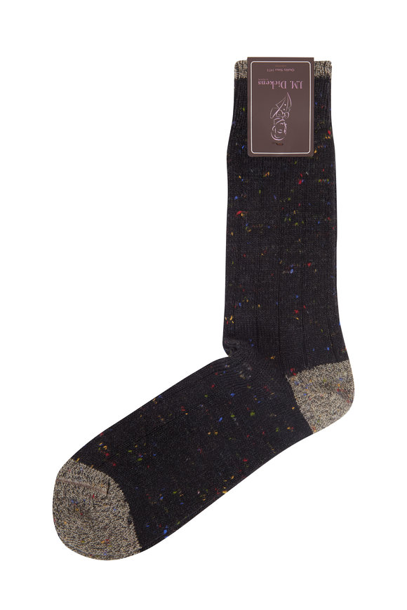 British Apparel Black Donegal Wool Socks