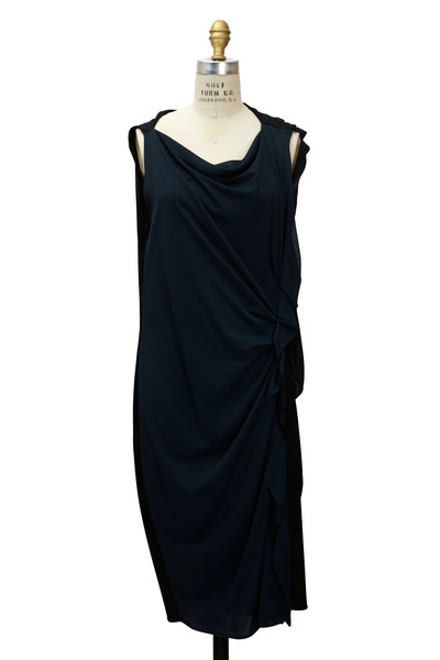 Lanvin - Pietersite & Black Jersey Dress