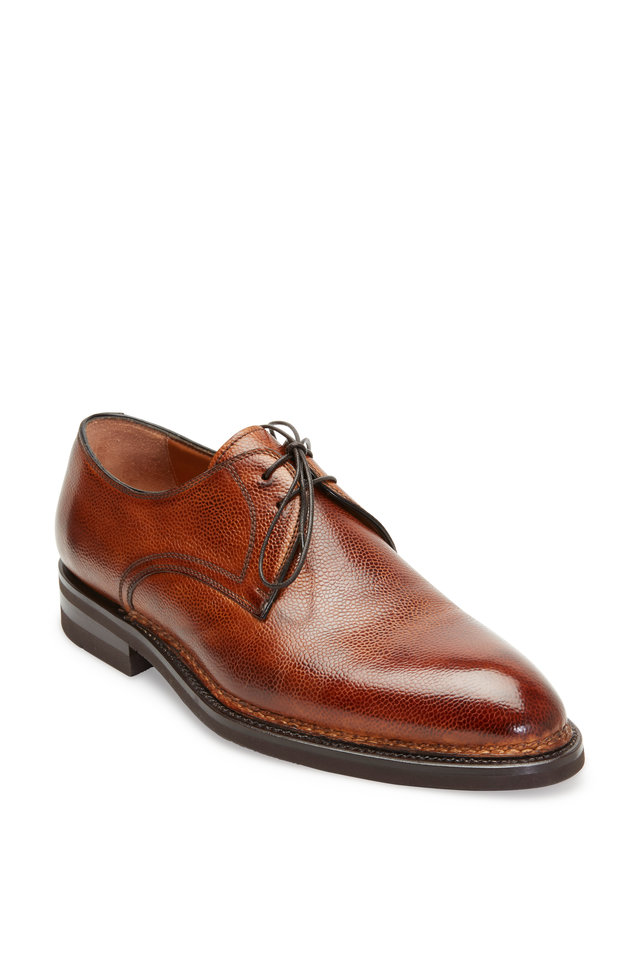 Carnera Whiskey Grained Leather Derby Shoe