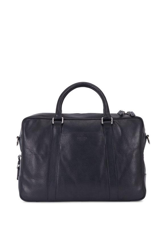 Shinola Black Leather Slim Briefcase