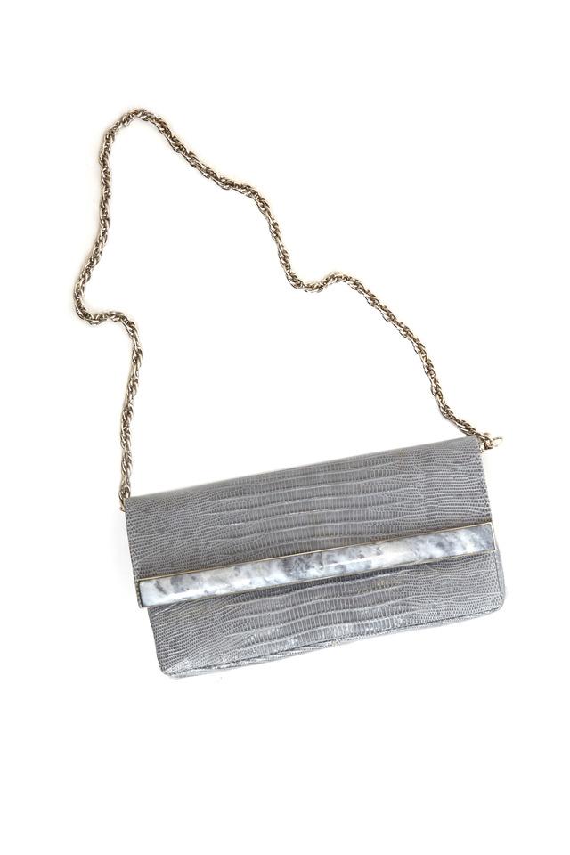 Grey April Clutch