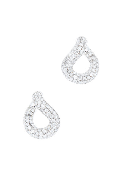 Pomellato - 18K White Gold Diamond Earrings