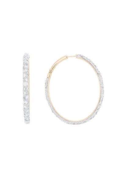 Pomellato - 18K Pink Gold Diamond Tango Hoops