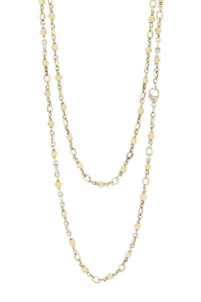 Sylva & Cie - 18K Yellow Gold Vintage Bead Necklace