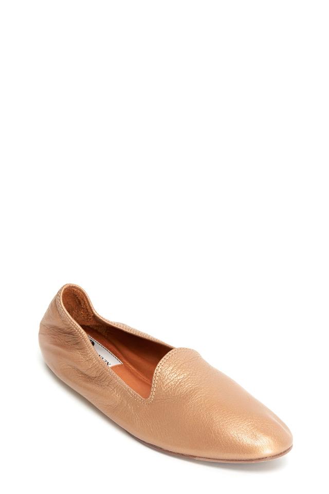 Classic Rose Gold Leather Slipper