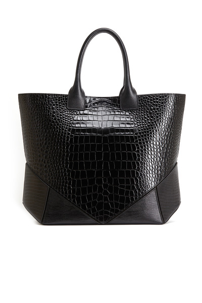 Givenchy - Easy Black Crocodile Stamped Leather Tote