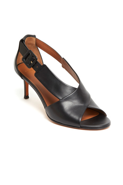 Givenchy - Black Leather Crisscross Sandals