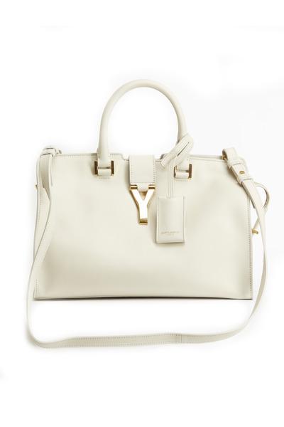 Saint Laurent - Ligne Y Chalk Petite Cabas  Handbag