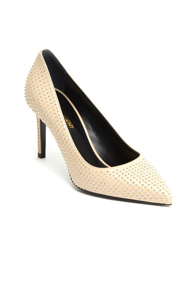 Saint Laurent - Paris Poudre Studded Leather Pumps, 80mm