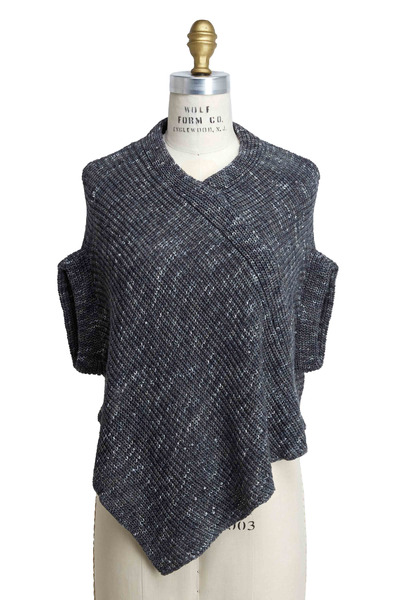 Brunello Cucinelli - Stamped Cotton Pailette Poncho