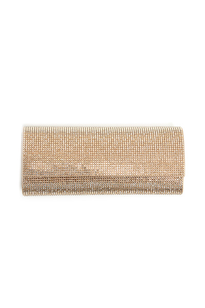 Judith Leiber - Champagne East West Flap Clutch