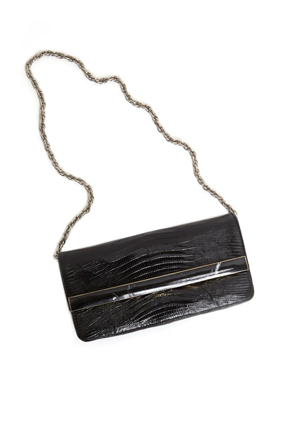 Daniella Ortiz - April Black Lizard Clutch