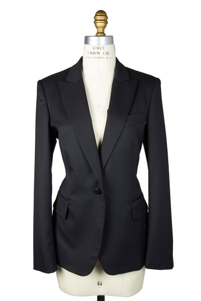 Stella McCartney - Black Wool Twill Classic Jacket