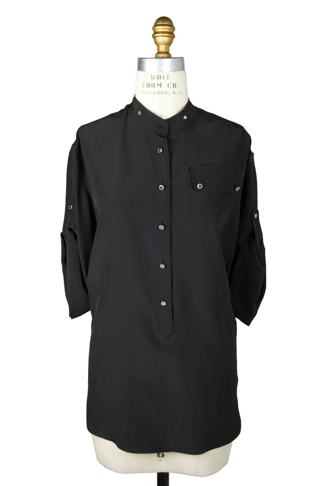 Ashton Black Silk Blouse