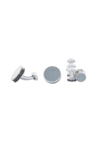 Tateossian - Carbon Fiber & Enamel Stud Set