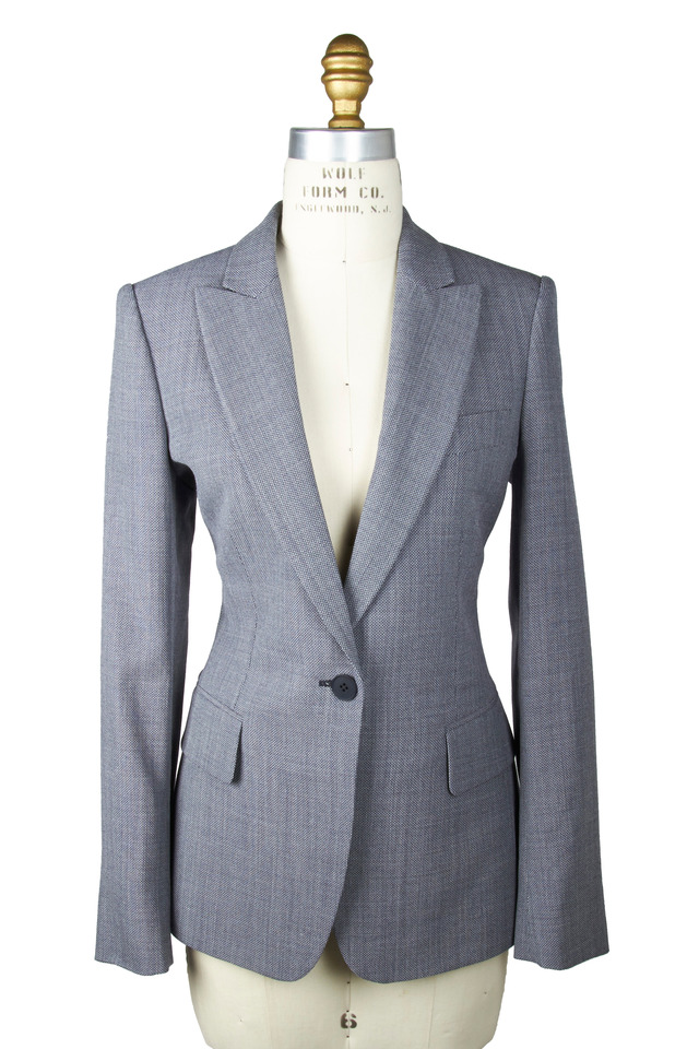 Grey Basketweave Jacket
