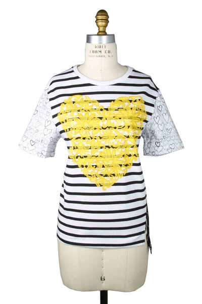 Stella McCartney - White & Yellow Cotton Shirt