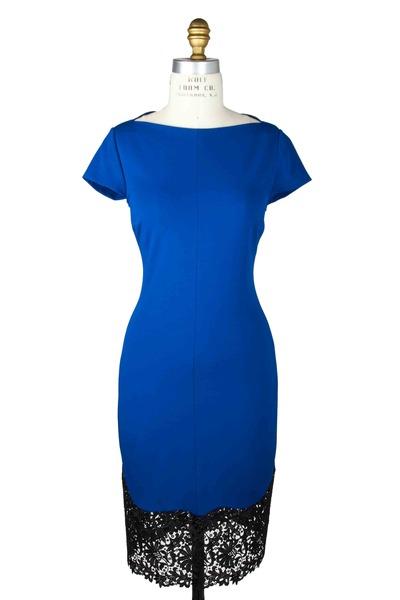 Stella McCartney - Lace Bottom Cap Sleeve Dress