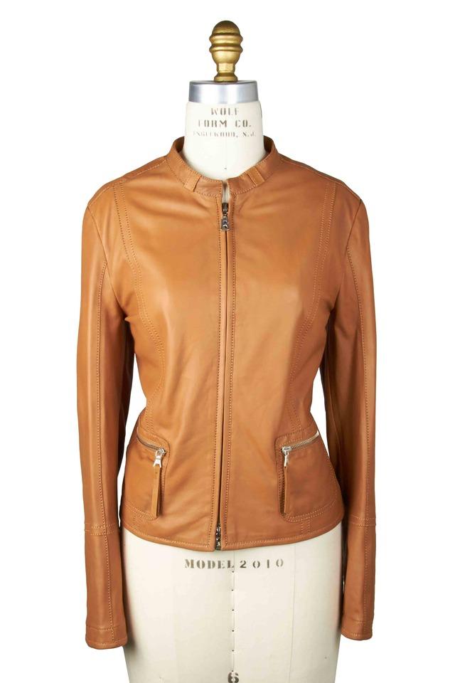 Britta Cognac Leather Jacket