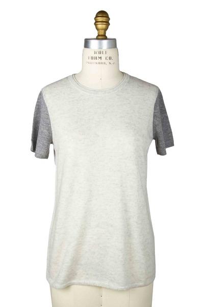 Vince - Grey Cashmere T-Shirt