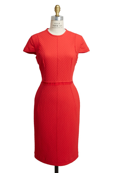 Lanvin - Coral Scuba Light Dress