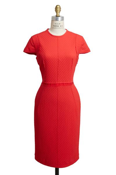 Lanvin - Coral Scuba Light Dress