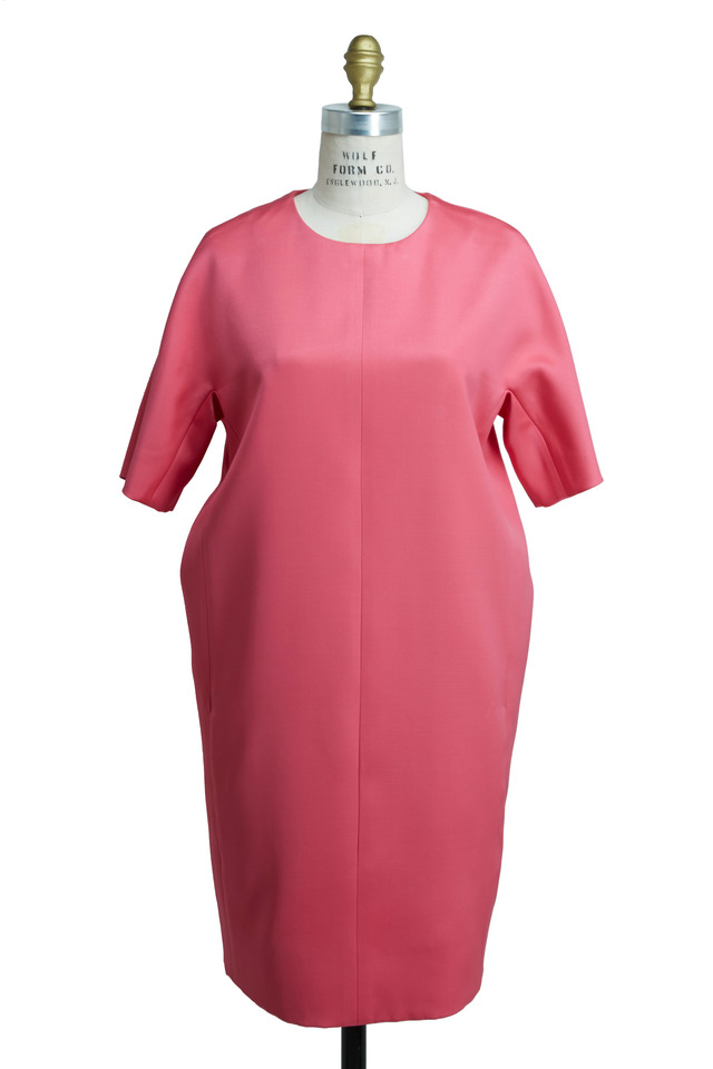 Easy Pink Double Silk Dress