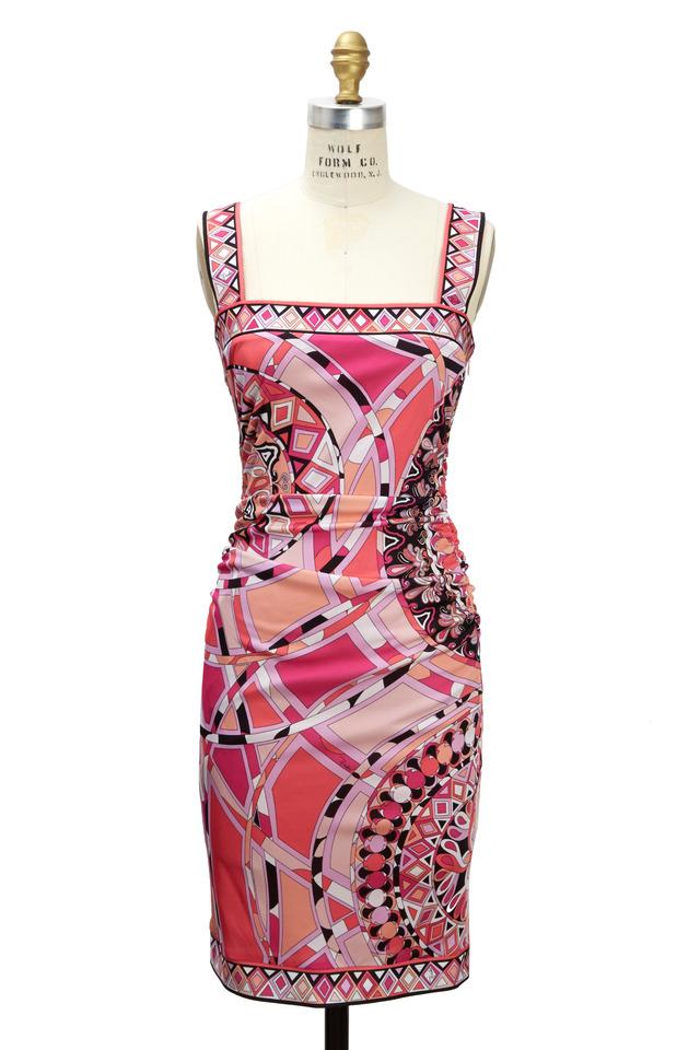 Pink & Orange Cotton Print Dress