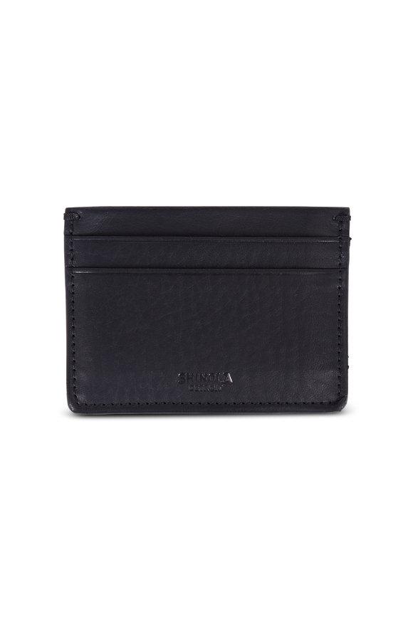Shinola Black Leather Card Case