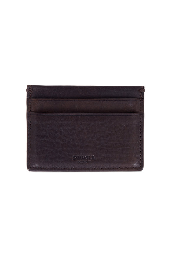 Shinola Five Pocket Dark Brown Card Case