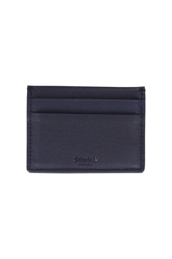 Shinola Five Pocket Navy Blue Card Case