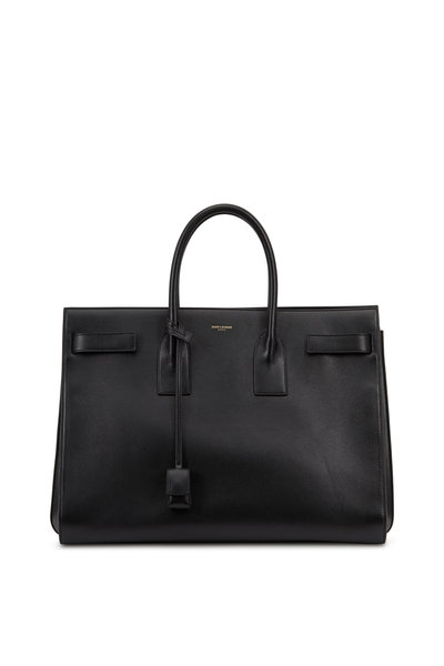 Saint Laurent - Sac De Jour Black Leather Large Tote