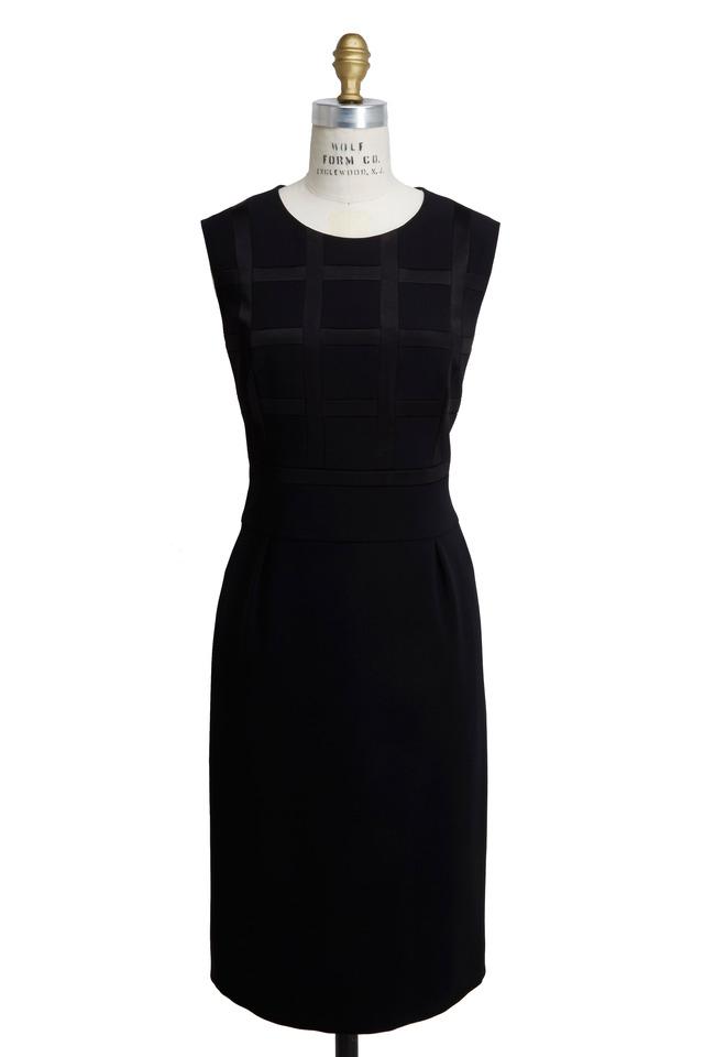 Black Triacitate Satin Dress