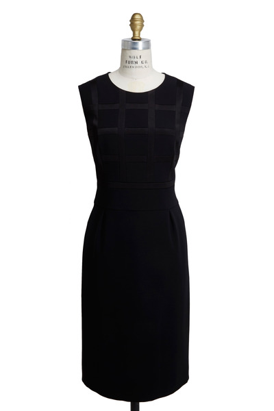 Escada - Black Triacitate Satin Dress