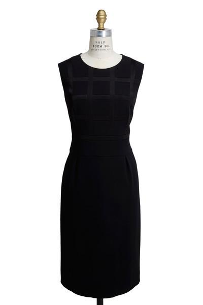 Escada - Black Triacitate Satin Dress
