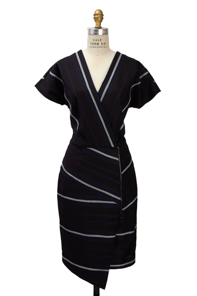 Veronica Beard - Black & White Polyester Dress