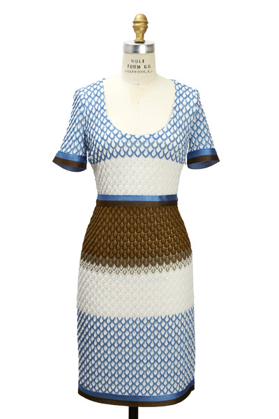 Missoni - Blue Cream & Brown Dress