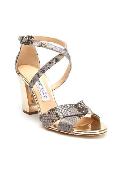 Jimmy Choo - Monaco Snakeprint Sandals