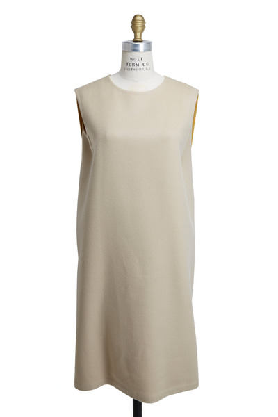Agnona - Cream Cashmere Dress