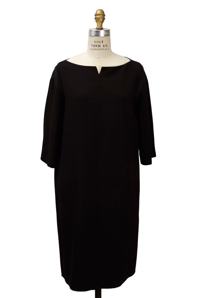 Mona Black Satin Dress