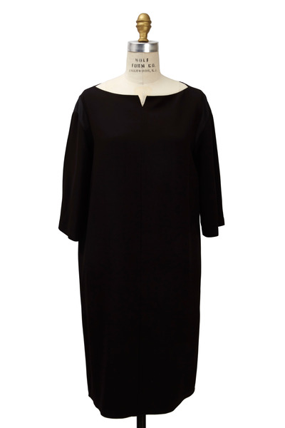 The Row - Mona Black Satin Dress