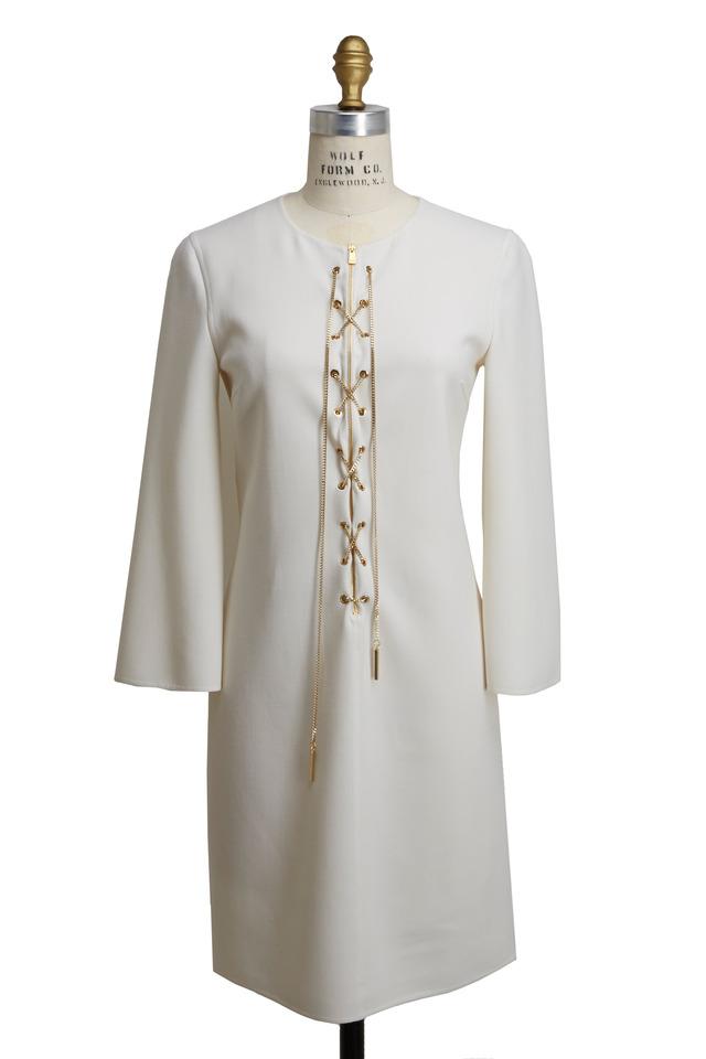White Chain Front Dress