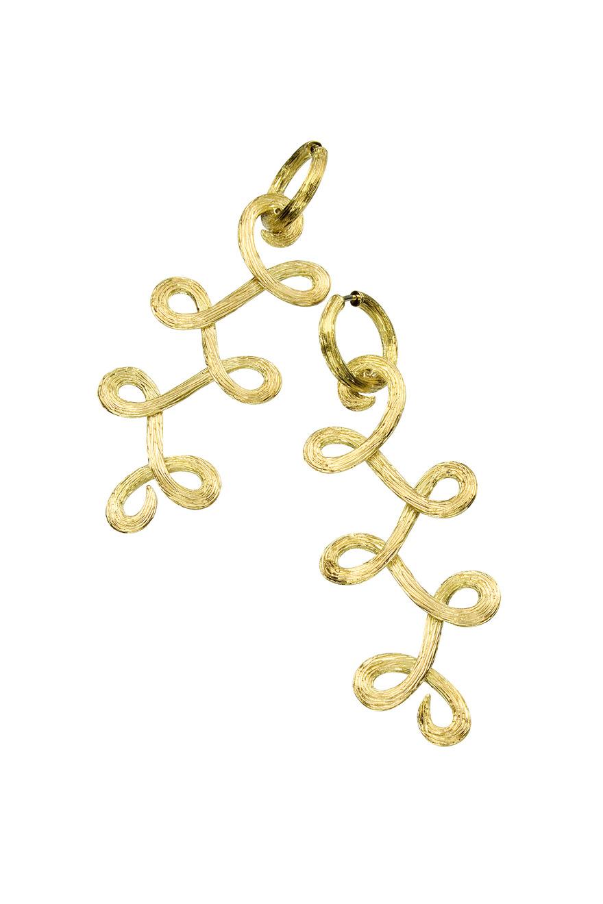 Gold Celtic Dunes Earrings