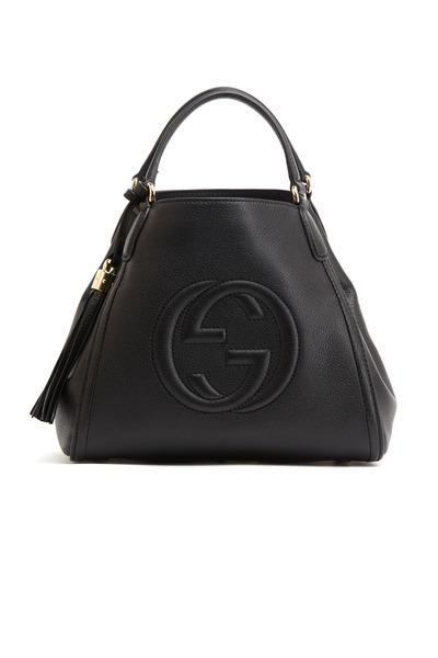 Gucci - Black Leather Shoulder Bag, Small