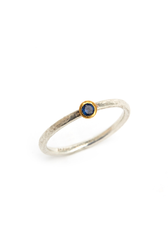 Sapphire Stone Stack Ring