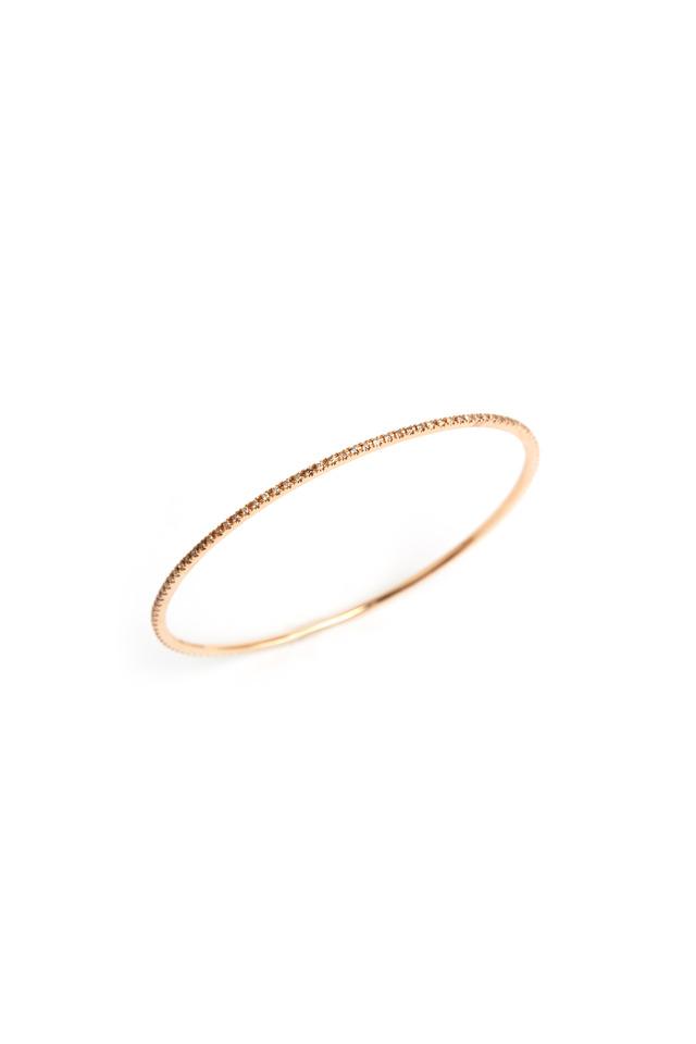 Cognac Pinpoint Bangle Bracelet