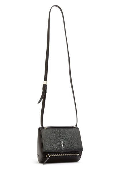 Givenchy - Pandora Black leather Stingray Mini Handbag