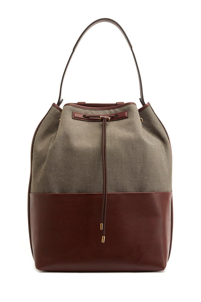 Wood & Mahogany Linen Backpack