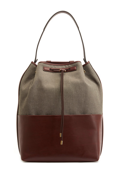 The Row - Wood & Mahogany Linen Backpack